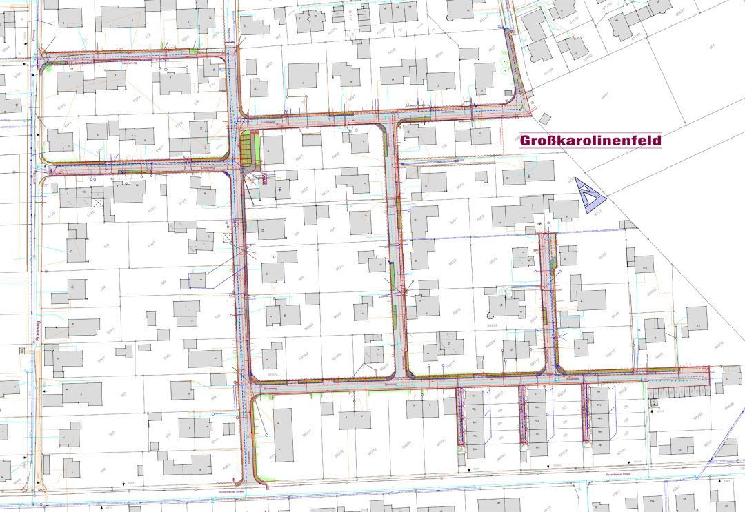 Straßenausbau Großkarolinenfeld Süd