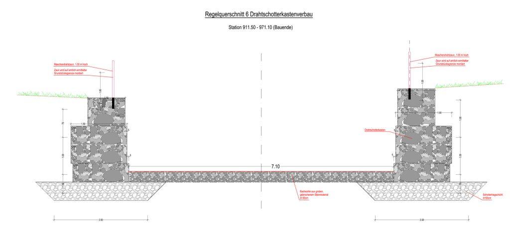 Ausbau Herderbach in Rosenheim - Querschnitt 4
